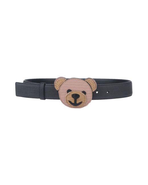 Moschino - Black Belts - Lyst