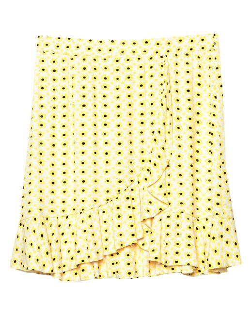 Ganni Yellow Mini Skirt