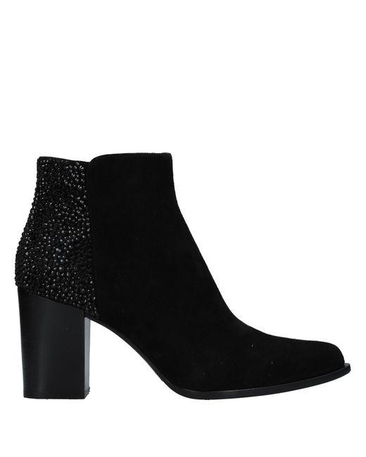 Le Silla Black Ankle Boots