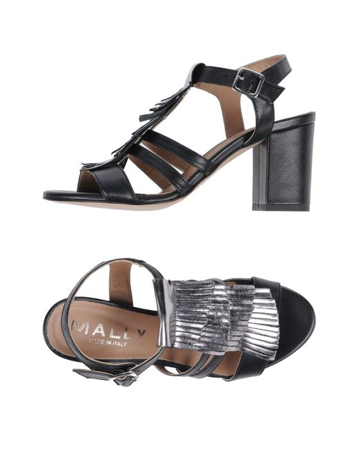 Mally Black Sandals