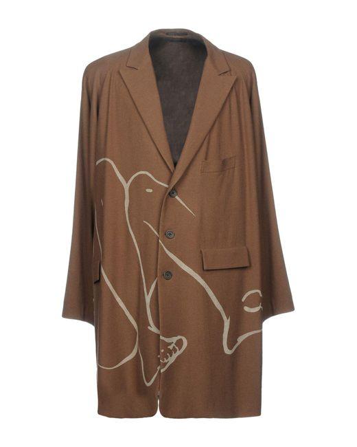 Yohji Yamamoto - Brown Overcoats for Men - Lyst