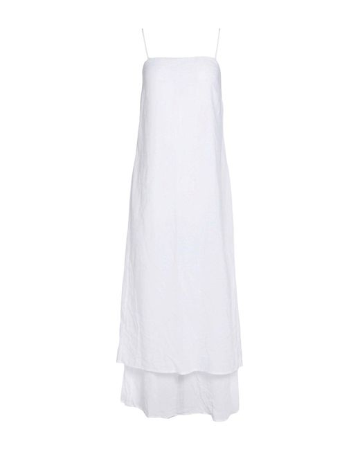 James Perse - White 3/4 Length Dress - Lyst