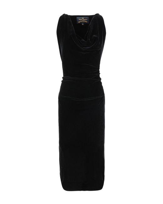 Vivienne Westwood Anglomania Black 3/4 Length Dress
