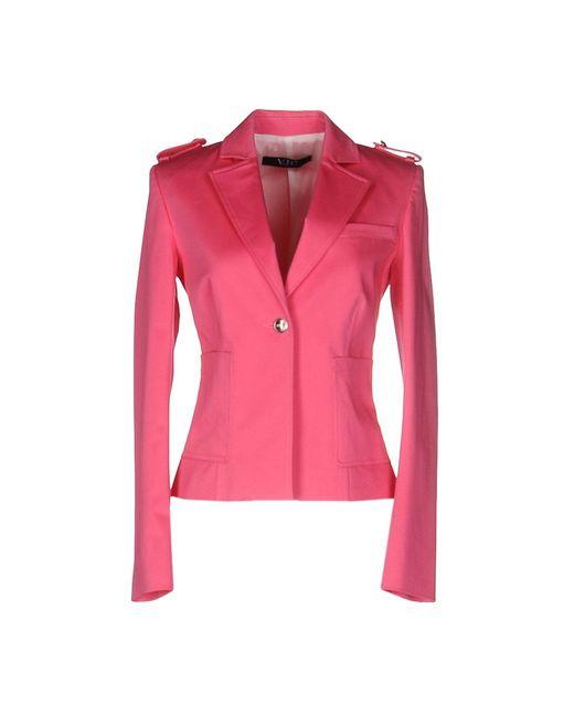 versace jeans blazer in pink lyst. Black Bedroom Furniture Sets. Home Design Ideas