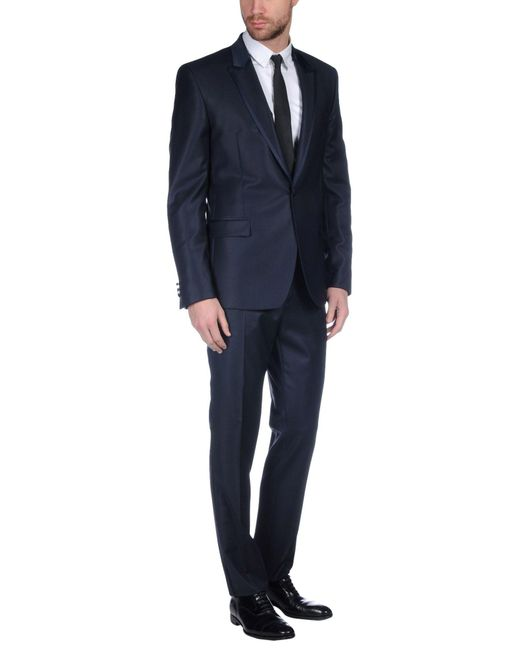 Versace Suit In Blue For Men