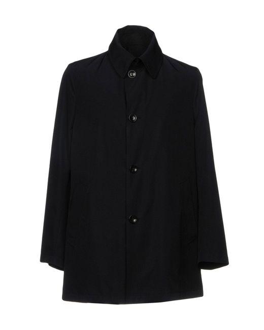 Tombolini Blue Overcoat for men
