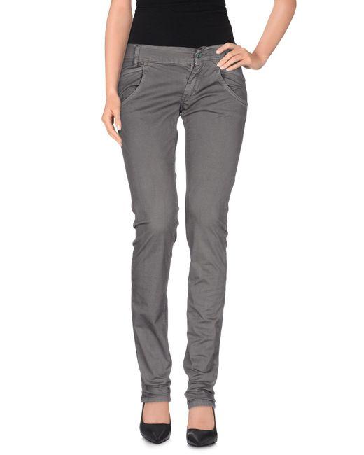Dondup - Gray Casual Pants - Lyst