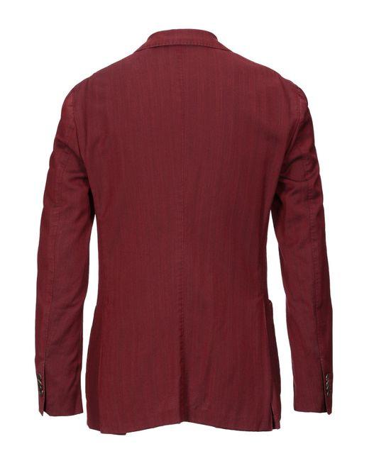 Boglioli Wool Suit Jacket in Brick Red (Red) for Men - Lyst