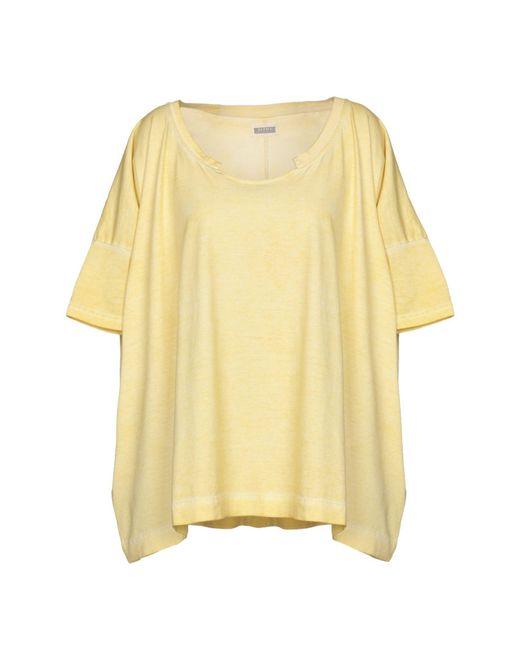 Alpha Studio - Yellow T-shirt - Lyst