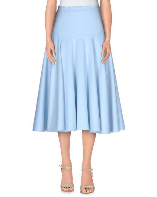 Vionnet - Blue 3/4 Length Skirt - Lyst