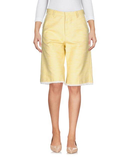 PT01 Yellow Bermuda Shorts