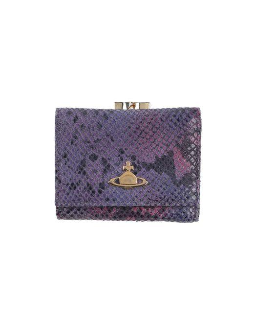 Portefeuille Vivienne Westwood en coloris Purple
