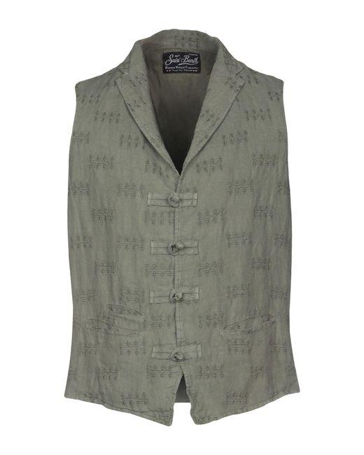 Mc2 Saint Barth Green Waistcoat for men
