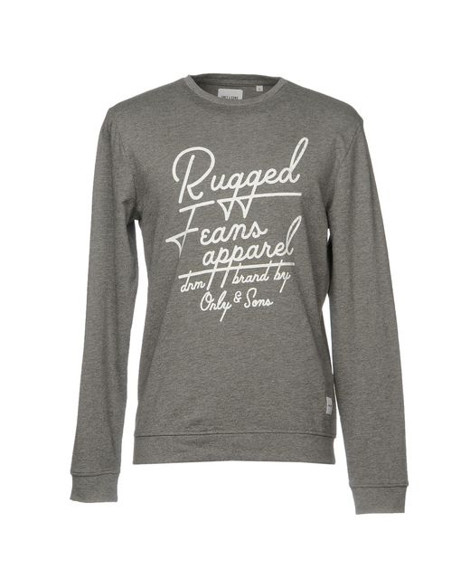 Only & Sons - Gray Sweatshirts for Men - Lyst