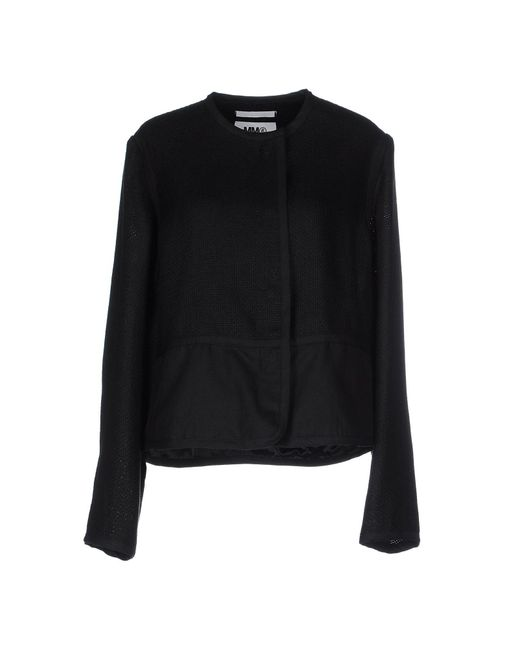 MM6 by Maison Martin Margiela - Black Blazer - Lyst