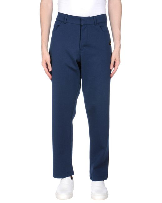 Le Coq Sportif Blue Casual Pants for men