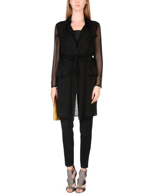 Diane von Furstenberg Black Overcoat