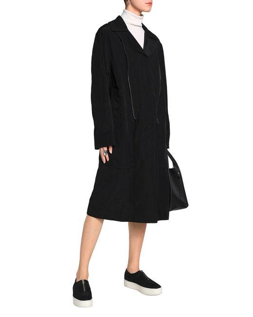 db8d47d8d85 ... DKNY - Black Overcoat - Lyst ...