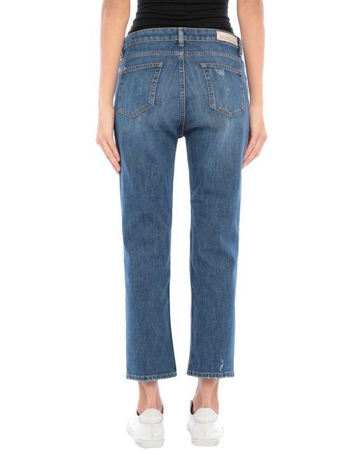 Manila Grace Pantalon en jean femme de coloris bleu