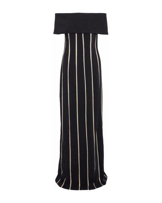 Elizabeth Kennedy Black Langes Kleid