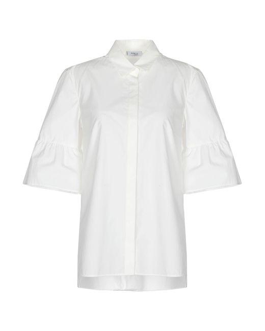 Akris Punto Camisa de mujer de color blanco mIdhA