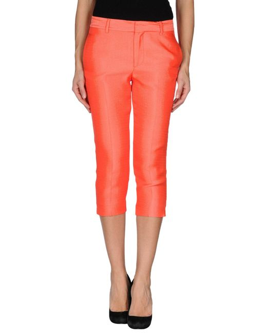 DSquared² - Orange 3/4-length Trousers - Lyst