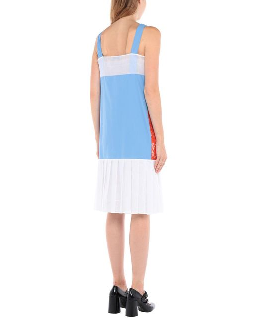 Prada Blue Knielanges Kleid