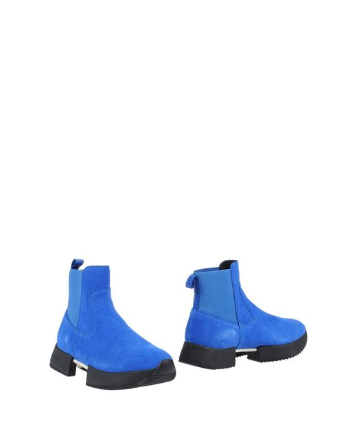 Bikkembergs - Blue Ankle Boots - Lyst