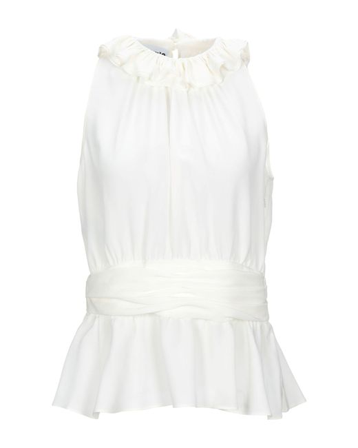 Moschino Top de mujer de color blanco B7I89