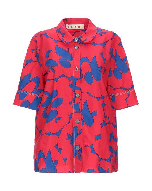 Marni Camisa de mujer de color rojo EAlip