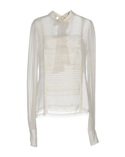 Ermanno Scervino Blusa de mujer de color blanco GpgRU