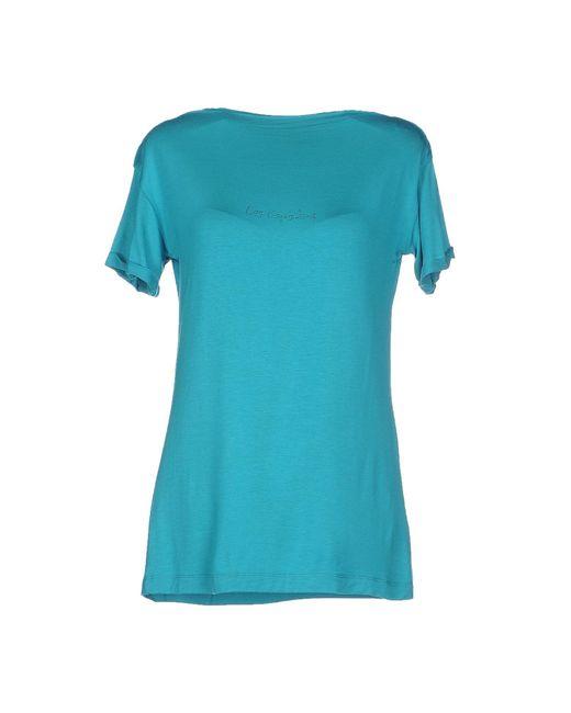 Les Copains | Blue T-shirt | Lyst