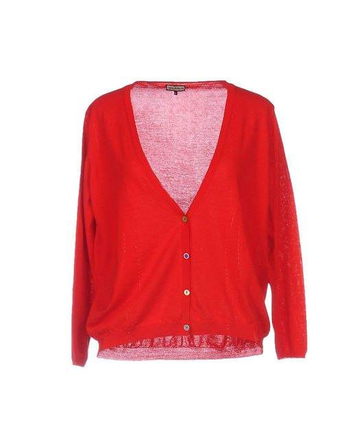 Maliparmi - Red Cardigan - Lyst