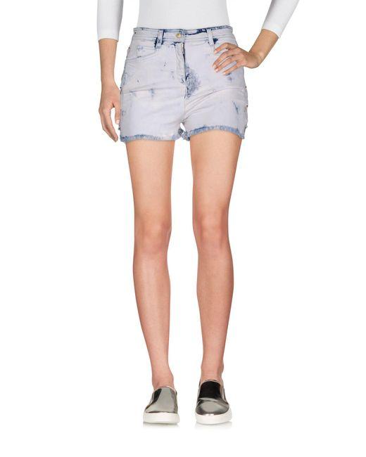 Balmain - Pink Denim Shorts - Lyst
