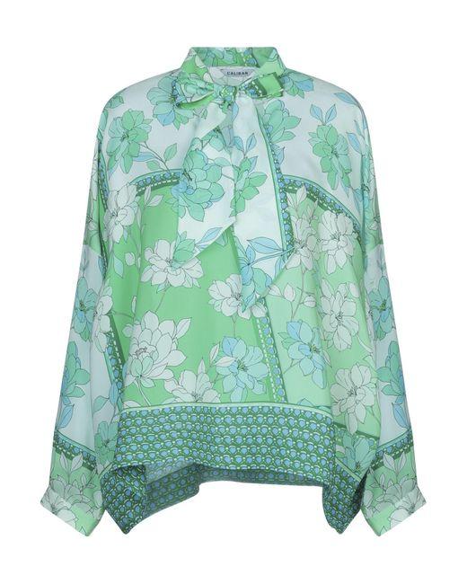 Caliban Blusa de mujer de color verde tBvzn
