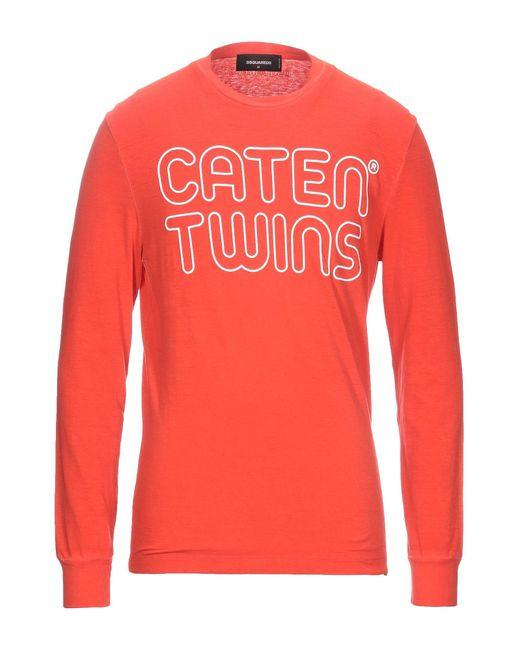 T-shirt di DSquared² in Orange da Uomo