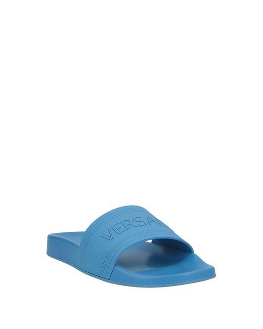 Versace Blue Sandals for men