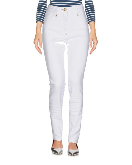 Pantalon en jean Philipp Plein en coloris White