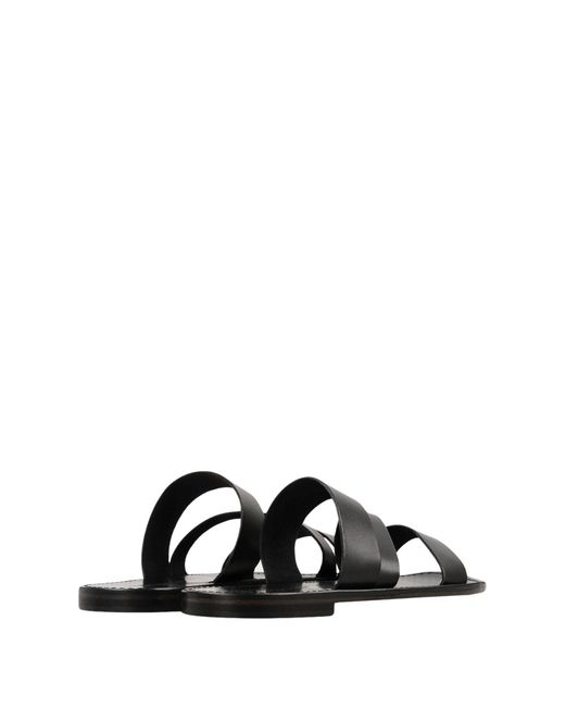 L'artigiano Del Cuoio Black Sandals for men