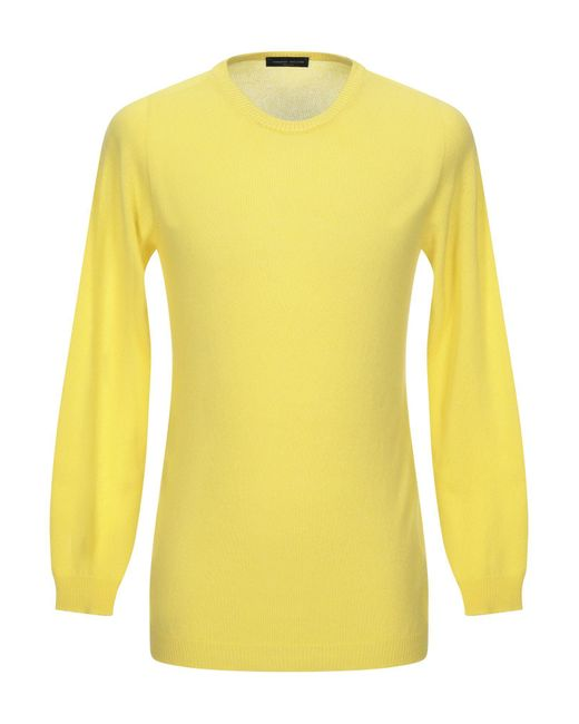 Pullover Roberto Collina de hombre de color Yellow