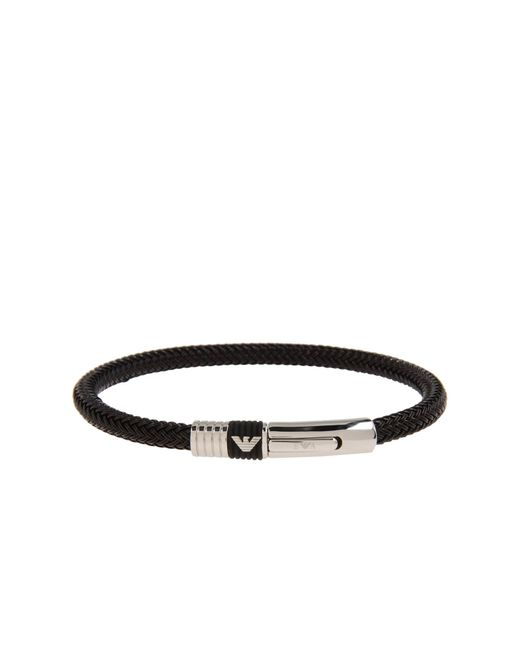 Emporio Armani | Black Bracelet for Men | Lyst