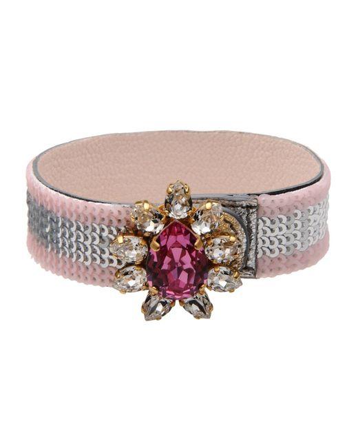 Shourouk | Pink Bracelet | Lyst