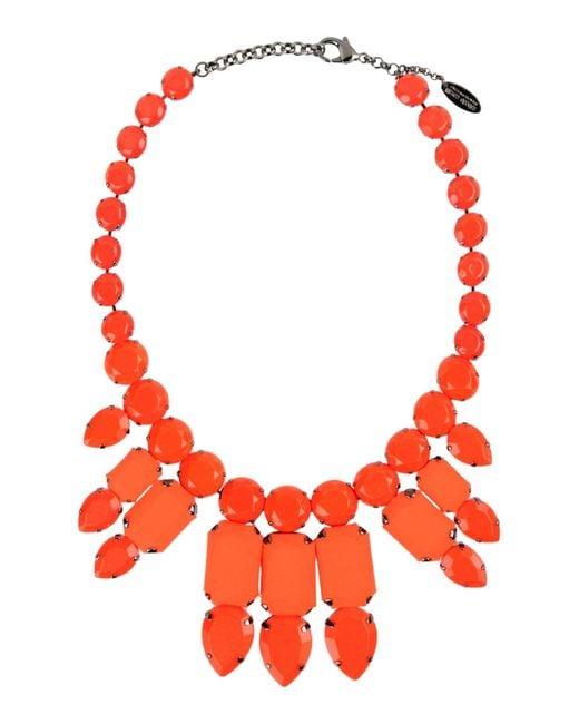 Roberto Cavalli | Orange Necklace | Lyst
