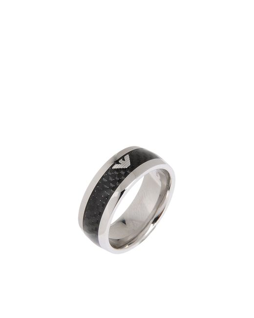 Emporio Armani | Metallic Ring for Men | Lyst