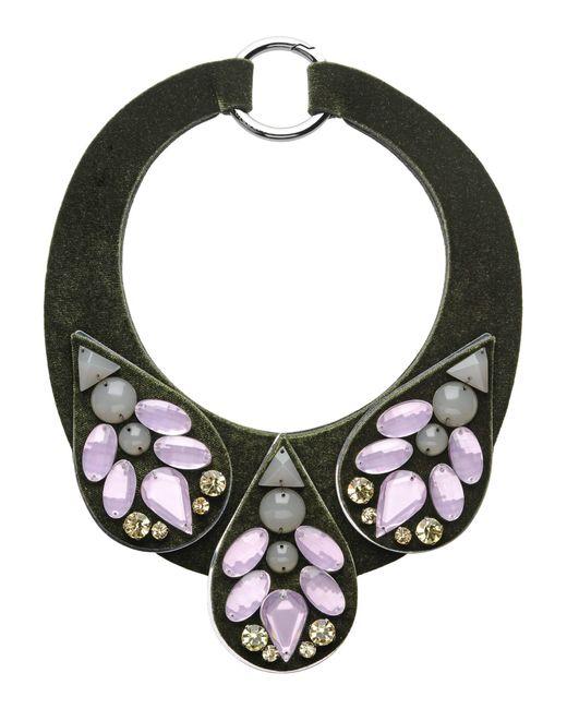 Emporio Armani | Green Necklace | Lyst