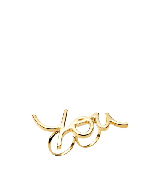 Lanvin | Metallic Ring | Lyst