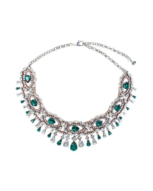 Shourouk   Isis Green Necklace   Lyst