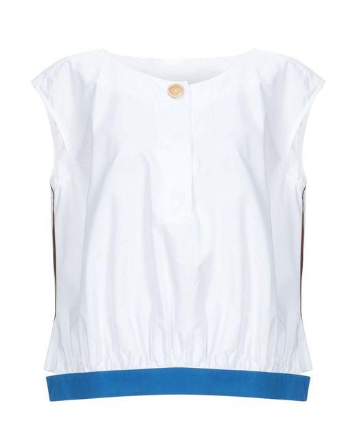 Marni Blusa de mujer de color azul Xsjsp