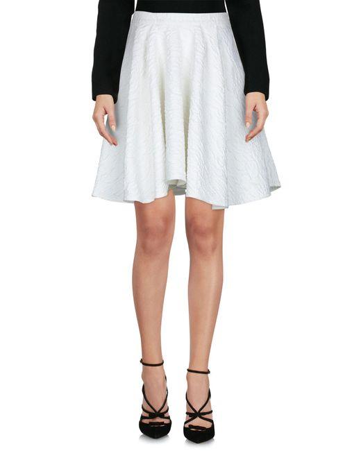 Amen - White Knee Length Skirt - Lyst