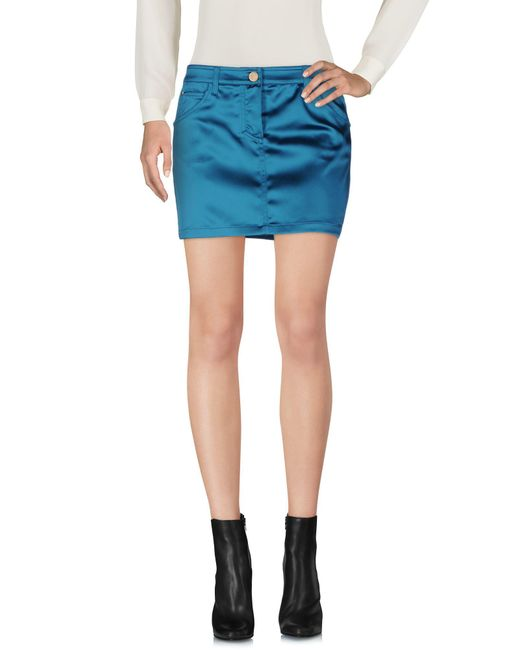 Frankie Morello - Blue Mini Skirt - Lyst